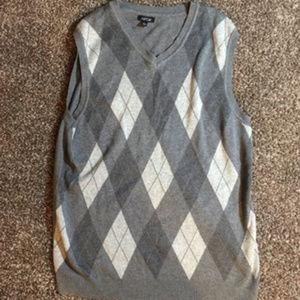 Men's Checkered Sweater Vest
